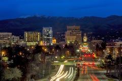 Beautiful city of Boise Idaho Capital boulevard Royalty Free Stock Photos