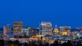 Beautiful city of Boise Idaho night Stock Photography