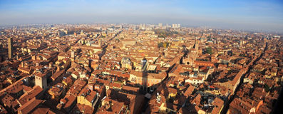 The beautiful city of Bologna, Italy from above Stock Photos