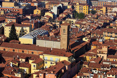 The beautiful city of Bologna, Italy from above Stock Image
