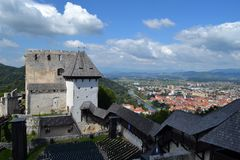 Castle in Celje, Slovenia. Beautiful city and castle view in Celje Royalty Free Stock Photography