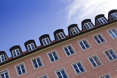 Beautiful city center apartments. Beautiful city apartments in central of Munich Royalty Free Stock Photos