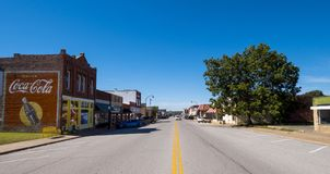 The beautiful city center of Stroud - a small town in Oklahoma - STROUD - OKLAHOMA - OCTOBER 16, 2017