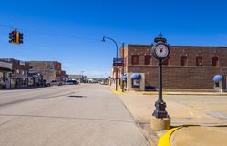 The beautiful city center of Stroud - a small town in Oklahoma - STROUD - OKLAHOMA - OCTOBER 16, 2017 Royalty Free Stock Photo