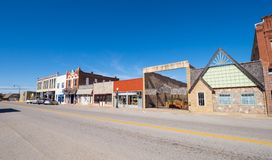 The beautiful city center of Stroud - a small town in Oklahoma - STROUD - OKLAHOMA - OCTOBER 16, 2017 Stock Image