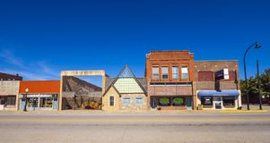 The beautiful city center of Stroud - a small town in Oklahoma - STROUD - OKLAHOMA - OCTOBER 16, 2017 Stock Photography
