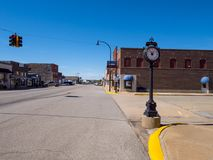 The beautiful city center of Stroud - a small town in Oklahoma - STROUD - OKLAHOMA - OCTOBER 16, 2017 Royalty Free Stock Image