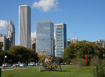 Beautiful city Chicago. On autumn Stock Photos