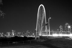 Beautiful city Dallas night scenes Royalty Free Stock Images
