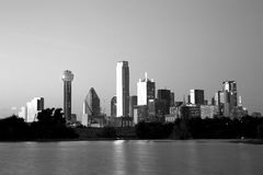 Beautiful city Dallas skyline night scenes Royalty Free Stock Images