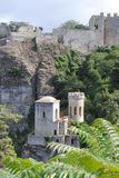 Beautiful city of Erice Stock Images