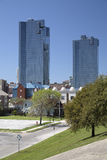 Beautiful city Fort Worth. Downtown of Fort Worth, TX USA royalty free stock photography