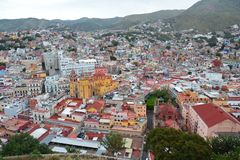 Panoramic View on Guanajuato City in Mexico royalty free stock photography