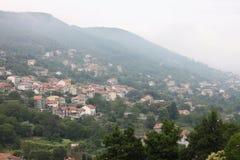 Beautiful city landscape in style of traditional Italian architecture. Amalfi Coast, Italy. Stock Photography