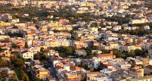 Beautiful city landscape in style of traditional Italian architecture at sunset. Amalfi Coast, Italy. Stock Image