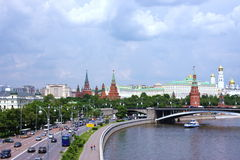 Beautiful city of Moscow. Overlooking the Kremlin Stock Photo
