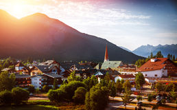 Beautiful city in the mountains Royalty Free Stock Images