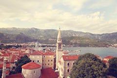 Beautiful city near the sea Stock Images