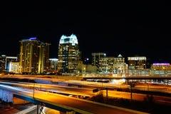 Beautiful city at night royalty free stock photography