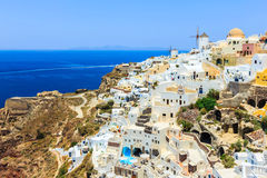 Beautiful city of Oia on Santorini island in Greece Stock Images