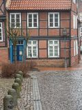The city of Stade in Germany. The beautiful City and the old houses of Stade in Germany Stock Photography