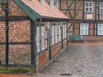 The city of Stade in Germany. The beautiful City and the old houses of Stade in Germany Stock Image