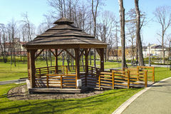 Beautiful city park by the Salt Mine, Wieliczka, Poland. Royalty Free Stock Photos