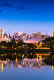 The beautiful city of Sao Paulo at night in Brazil Royalty Free Stock Photography