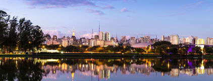 The beautiful city of Sao Paulo at night in Brazil Royalty Free Stock Image