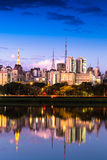The beautiful city of Sao Paulo at night in Brazil Stock Images