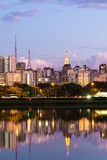 The beautiful city of Sao Paulo at night in Brazil.  stock images