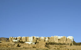Beautiful city of SHIBAM in the desert in the Hadramaut Stock Photography