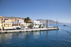 Beautiful city of Symi. Paradise on earth Stock Image
