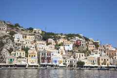 Beautiful city of Symi. Paradise on earth Royalty Free Stock Photos