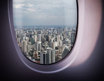 Beautiful city view from the window Royalty Free Stock Images