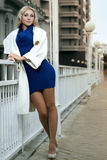 Beautiful city woman Stock Photos