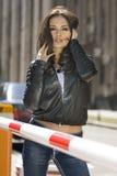 Beautiful city woman royalty free stock photo