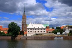 The beautiful City of Wroclaw, Poland stock image