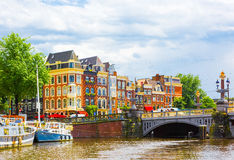 Beautiful cityscape of Amsterdam royalty free stock images