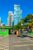 Beautiful cityscape on boulevard Rotschild in Tel Aviv, Israel. Stock Photos