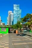 Beautiful cityscape on boulevard Rotschild in Tel Aviv, Israel. Stock Photos