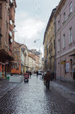 Beautiful cityscape of the center of old cuty Lvov Stock Photography