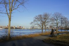 Beautiful cityscape with Charles river. At Boston, Massachusetts, United States Royalty Free Stock Photos