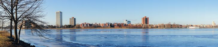 Beautiful cityscape with Charles river. At Boston, Massachusetts, United States Stock Image
