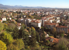Beautiful cityscape of Citta Bassa, the Lower Town of Bergamo, Italy Royalty Free Stock Images