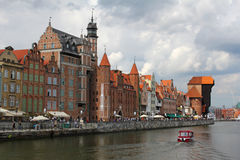 Beautiful cityscape of the Gdansk old town, Poland Stock Image