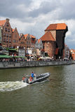 Beautiful cityscape of the Gdansk old town, Poland Royalty Free Stock Photos