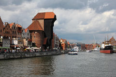 Beautiful cityscape of the Gdansk old town, Poland Stock Photos