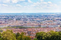 Beautiful cityscape of Lyon during daylight royalty free stock photos