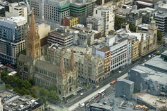 Beautiful cityscape of Melbourne, Australia. Aerial view from sk royalty free stock images